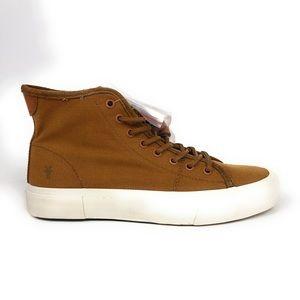 Frye Ludlow Hi Top Brown Canvas Shoes 3481490